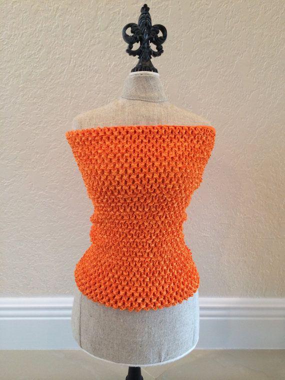 Orange Lined Crochet Tutu Top Tutu Top Fairy Tutu by partiesandfun