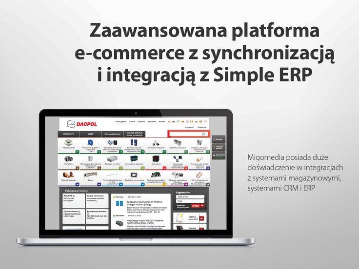Zaawansowana platforma #e-commerce z synchronizacją i integracją z Simple ERP #migomedia