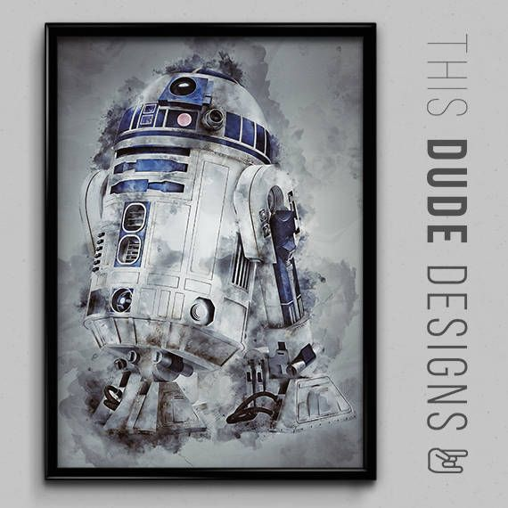 Check out Star Wars R2-D2 Water Colour Original Digital Painting Art Poster  Made with lots of love! ❤️  https://www.etsy.com/listing/523291514/star-wars-r2-d2-water-colour-original?utm_source=crowdfire&utm_medium=api&utm_campaign=api