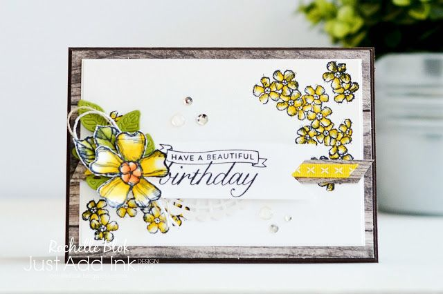 The Stamping Blok | Just Add Ink #405 | Stampin' Up! Birthday Blossoms | Stampin' Up! Stampin' Blends Alcohol Markers | Rochelle Blok
