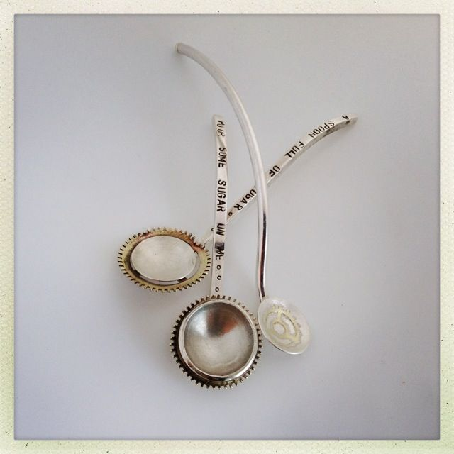 Handmade silver spoons ~ Culinary Tactics Suggest s You Look @ Jewelery By Janine Binneman ~ We Luv It ~  Design on hellopretty.co.za