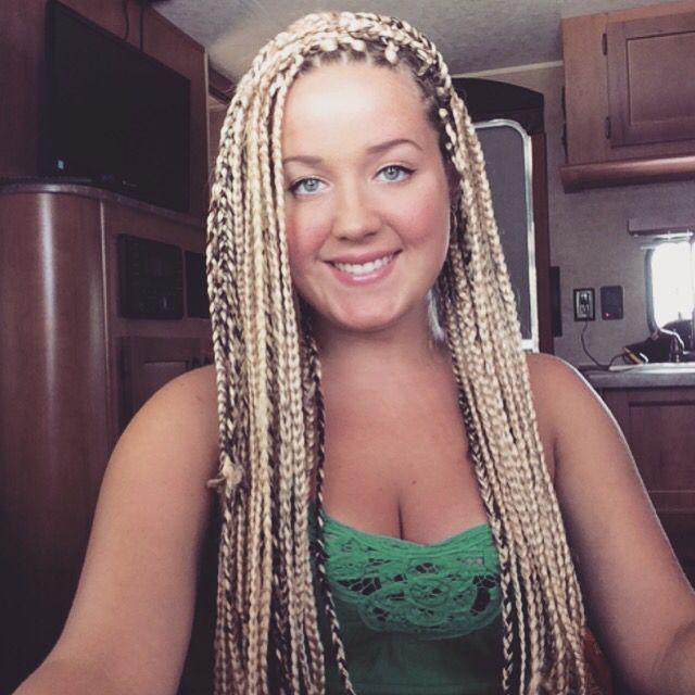American And African Hair Braiding Blonde Box Braids Box
