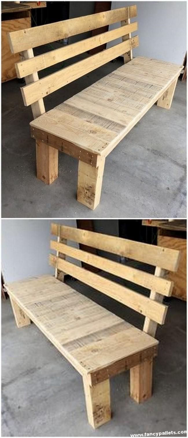 Awesome Pallet Bench Awesome Pallet Bench The Post Awesome Pallet Bench Appeared First On Pa Pallet Furniture Outdoor Wooden Pallet Projects Pallet Furniture