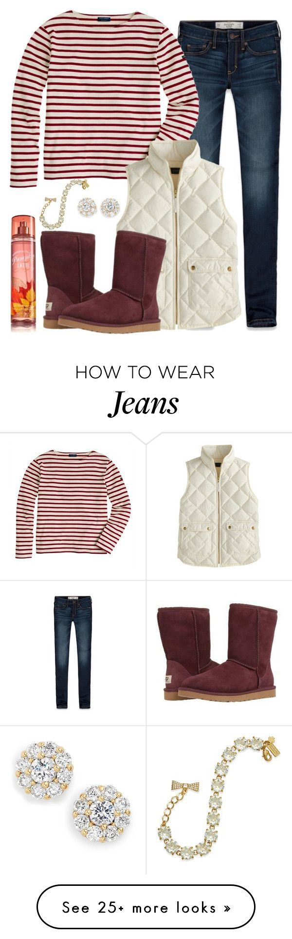 Apple picking by keileeen on Polyvore featuring Abercrombie  Fitch, J.Crew, UGG Australia, Kate Spade and fallformaggie
