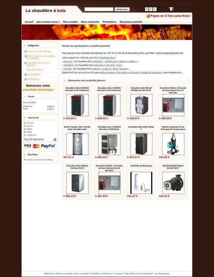 La-chaudière-bois.com - Vente sur Internet de chaudière à bois bûche Viadrus, pellet, granulés, tubage Poujoulat  - Chaudière bois et granulés.