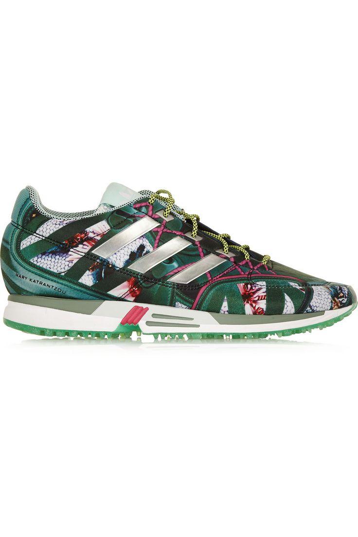 adidas Originals | + Mary Katrantzou Bomfared Equipment Racer scuba-jersey  sneakers | NET-