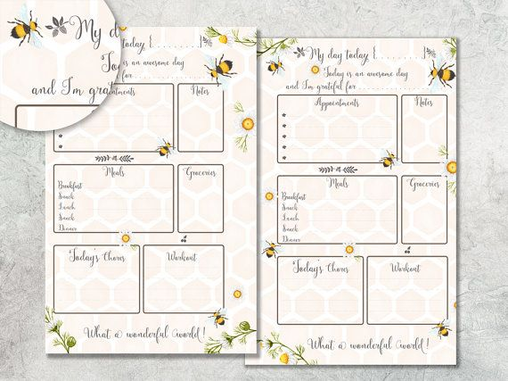 Dagelijkse Planner afdrukbare, planner pagina