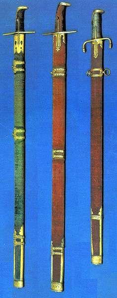 Lóra való egyszerű pallos, 16. század Lugosi József-Temesváry Ferenc: Kardok. Zrínyi Katonai Kiadó, Budapest, 1988, 53-55. kép. Magyar Nemzeti Múzeum, Budapest