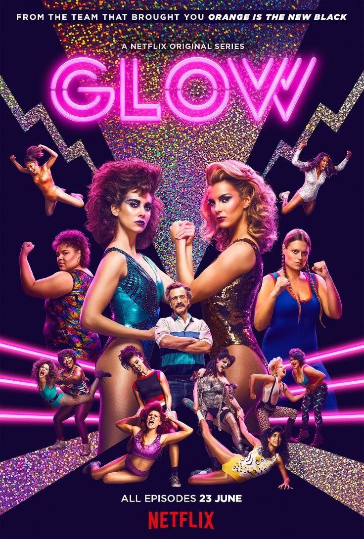 New Poster For Netflix Wrestling Drama GLOW   http://www.themoviewaffler.com/2017/06/new-key-art-motion-poster-for-netflix.html   #Netflix #GLOW