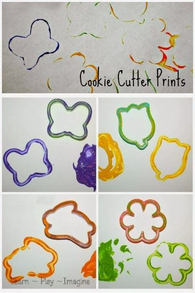 Print Making With Cookie Cutters Spring Art For Kids