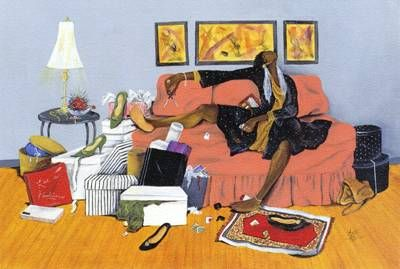 images annie lee art | black woman cuts up her credit cards, and why not? Theyre all maxed ...