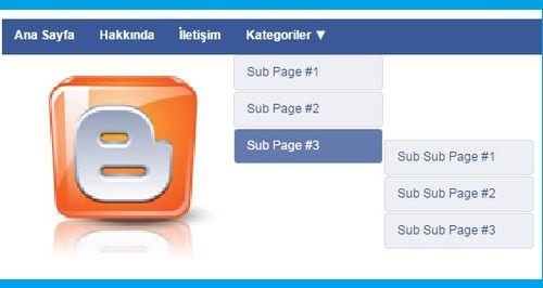 Guney59 Paylaşım : Dikey ve Yatay Facebook Stili Açılır Menü Oluşturu...