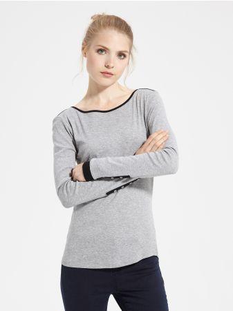 SINSAY - Bluzka na długi rękaw <br><br>Wzrost modelki: 176 cm<br>Modelka ze zdjęcia ma na sobie rozmiar M