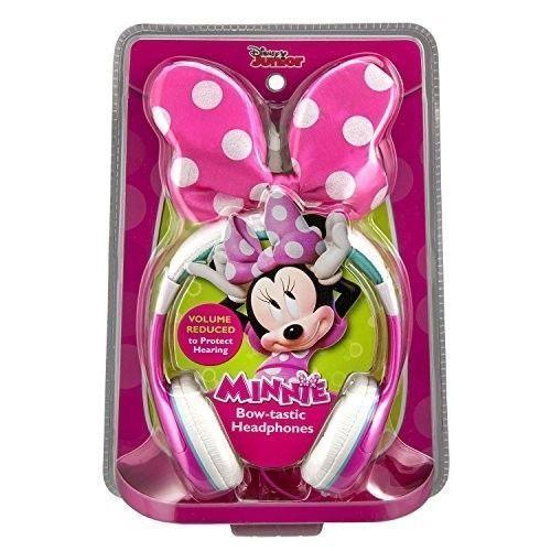 Minnie Mouse BOW Ear Cushioned HEADPHONES Adjustable Headband Disney Jr.  #eKids
