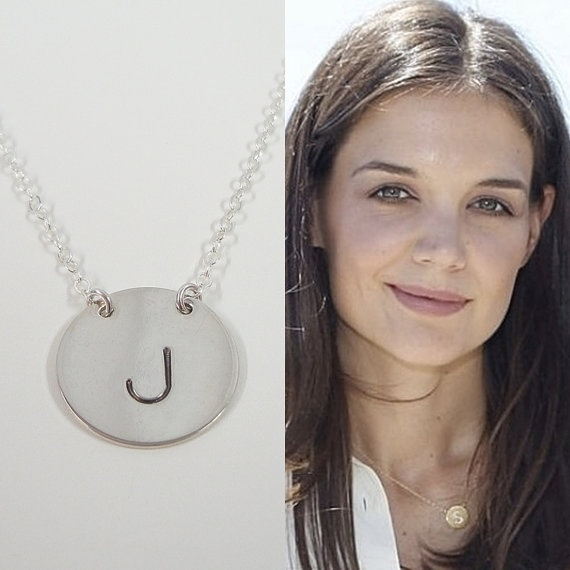 Sterling Silver Initial Necklace  Celebrity by SivadoStudio, $32.00