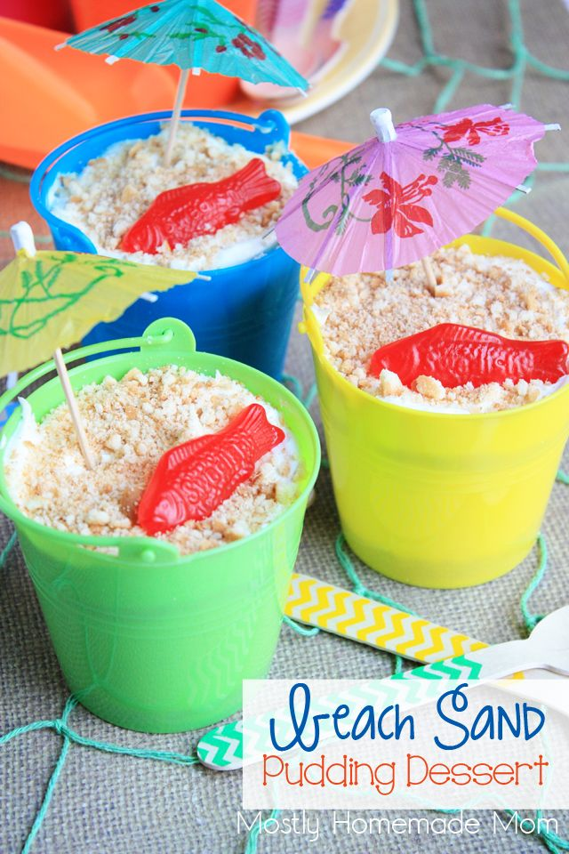 Beach Sand Pudding Dessert | Mostly Homemade Mom