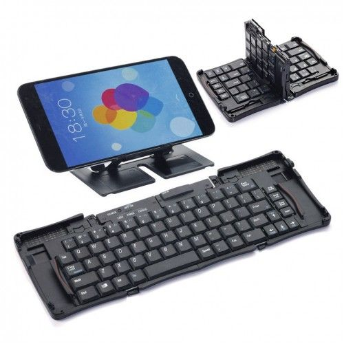 TOP Quality #iPadKeyboard with foldable case, folding PLASTIC ABS HARD KEY keyboard for galaxy note…