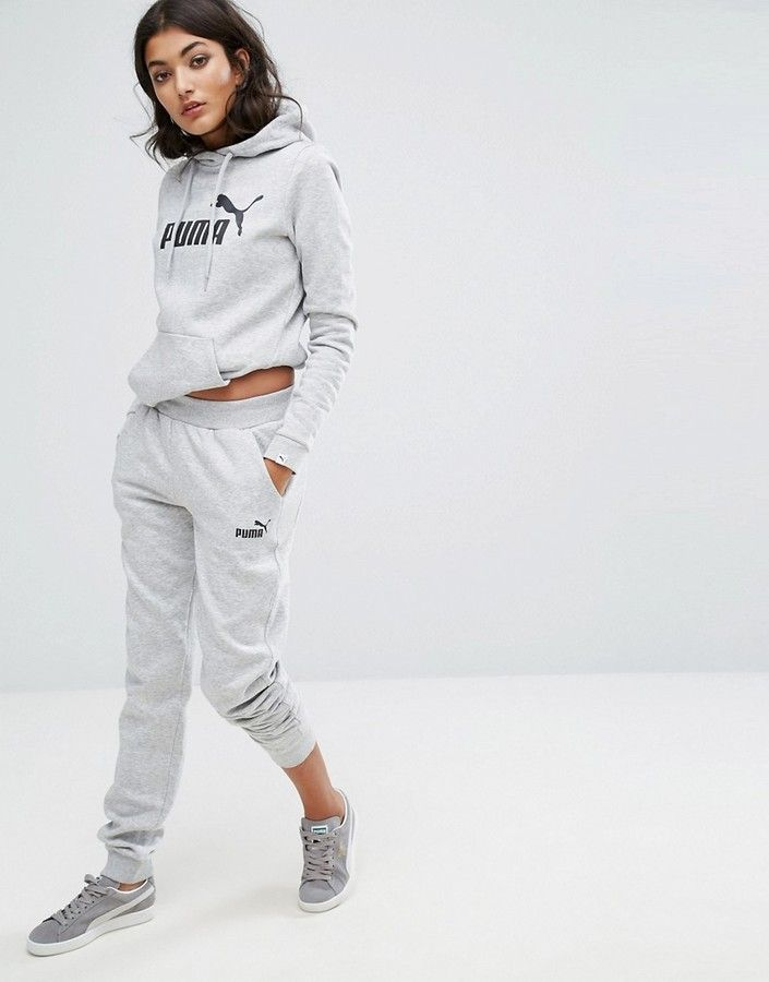 Puma Classic Logo Sweatpants In Grey  18f4249946