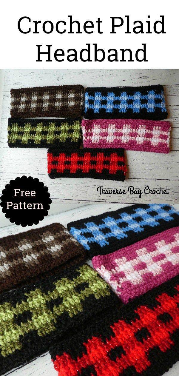 Crochet Plaid Headband – – Sara Selk