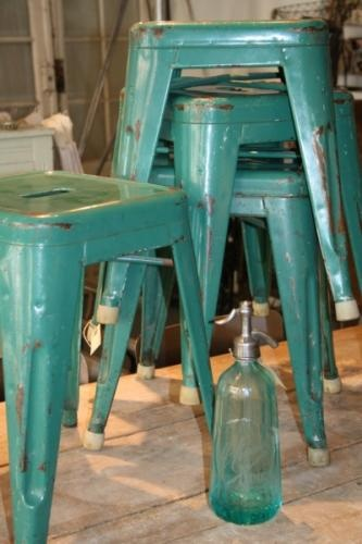 Metal Stools...turquoise