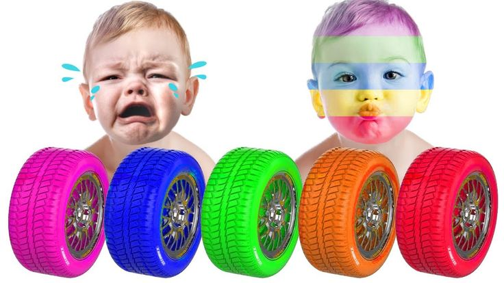 Learn Colors with Animal Colors Car Tire for Kids   Learn Colours with C...