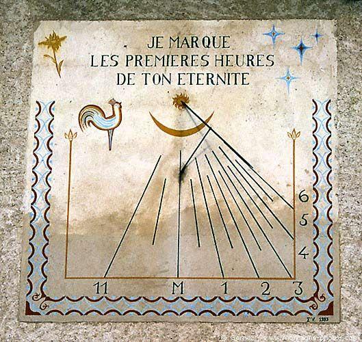 cadran solaire Saint Véranl,le village où les coqs picorent les étoiles