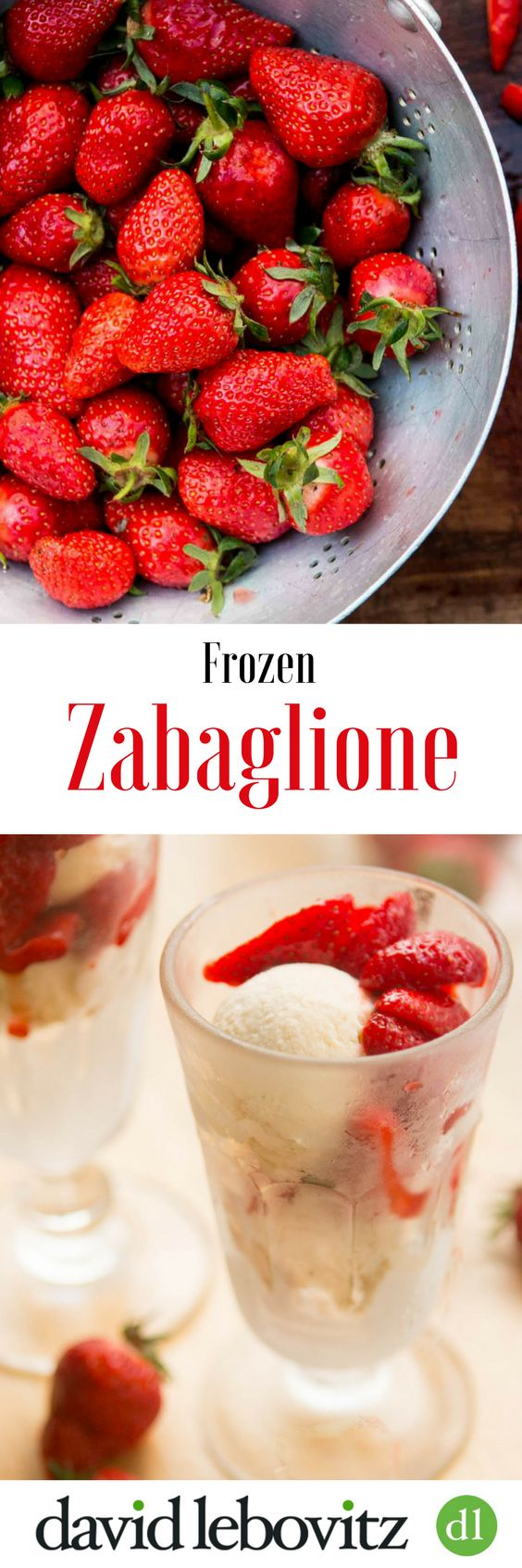 Frozen zabaglione - perfect with fresh fruit and berries!