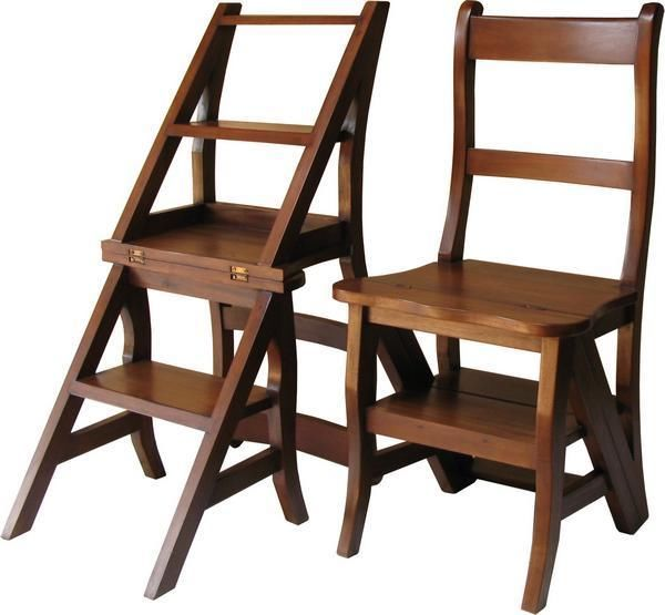 Charmant Library Step Stool Chair Combo Plan Clamps