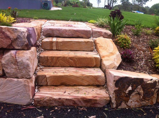 24 best Sandstone block wall images on Pinterest Block wall
