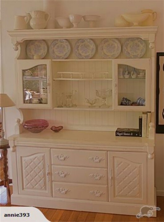 French Country Hutch Dresser Love The White Painted Paneling