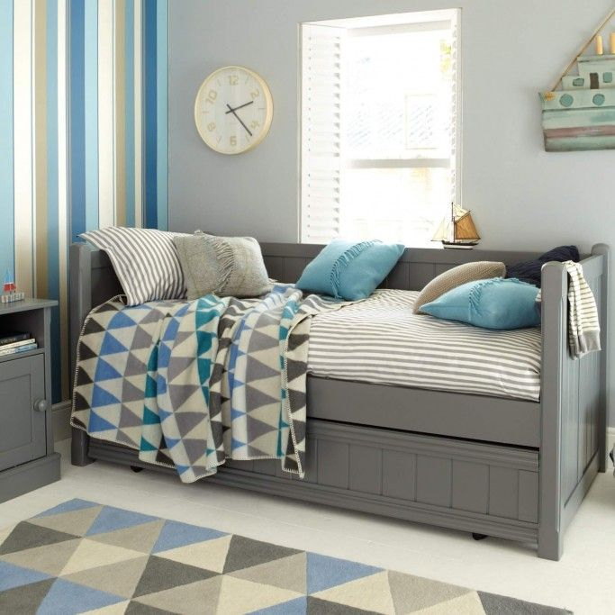 Charterhouse Daybed With Trundle Dark Grey Trundle Bed Bright