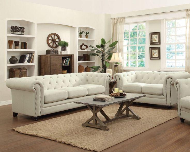 Die Besten 25+ Fabric Chesterfield Sofa Ideen Auf Pinterest ... Wohnzimmer Beige Couch