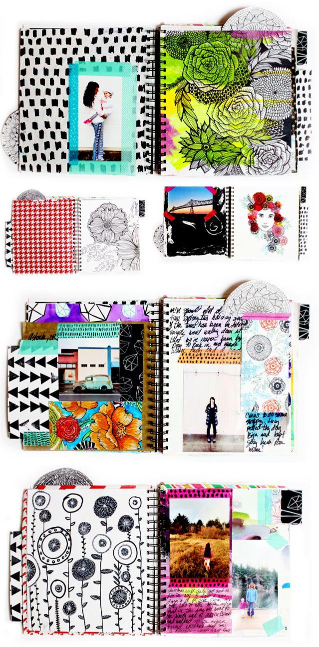 art journal pages - Alisa Burke