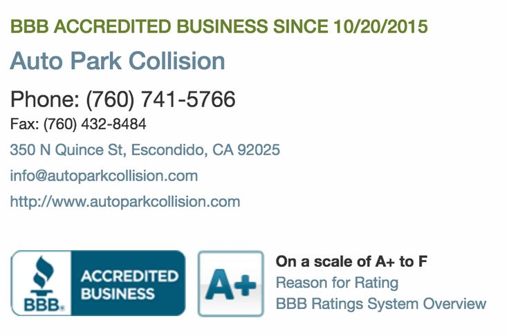 Did you know? We're a BBB accredited business with an A+ rating!  http://www.bbb.org/sdoc/business-reviews/auto-body-repair-and-painting/auto-park-collision-in-escondido-ca-171986357/  #aplus #accredited #bbb #certified #customerservice #quality