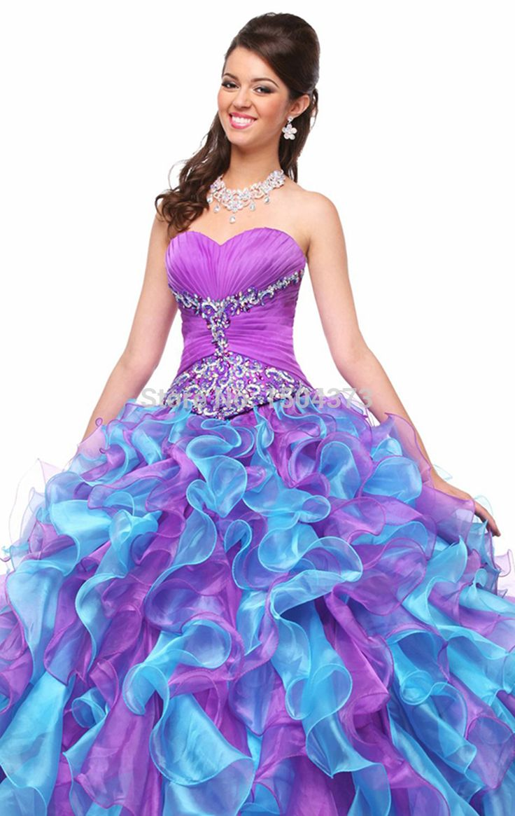 Quinceanera dresses purple and blue online shopping-the world ...