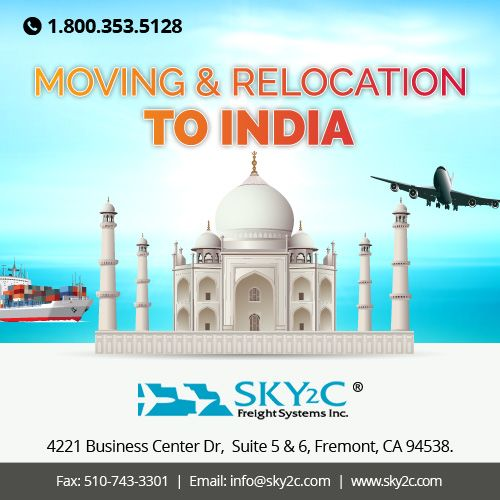 Are you want to #Relocate from USA to India ? Sky2c offers affordable Shipping Quotes for #Moving and #Relocatingtoindia. Call us Today for Free Quotes at +1 800-353-5128