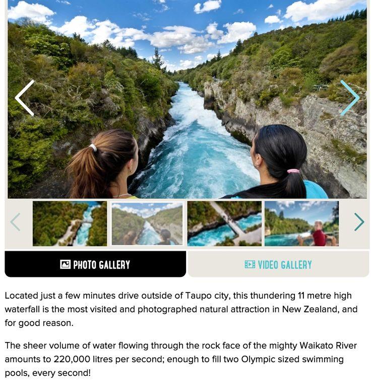 Haku falls, Lake Taupo-North island
