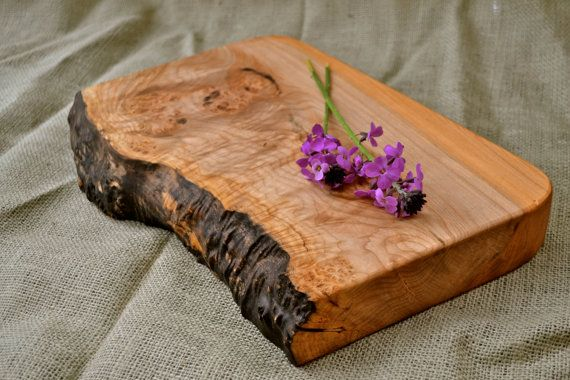 Extra Thick, Natural Edge Wooden Cutting Board 250