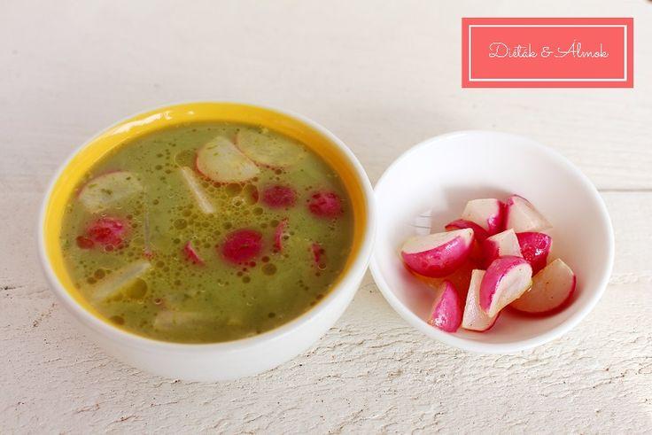 medvehagymás leves sült retekkel