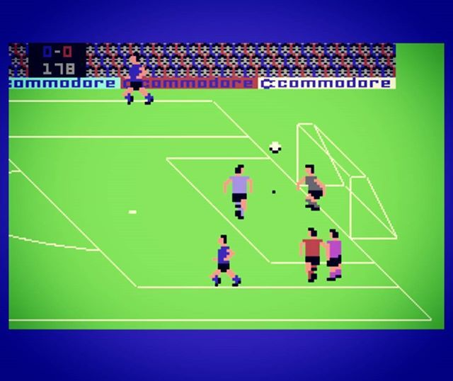 WEBSTA @favoritevideogamessince71 International Soccer (1983 Commodore 64). Gameplay
