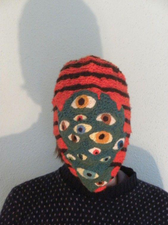 knitted monster mask