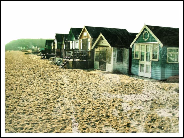beach huts pixlr-matic ized