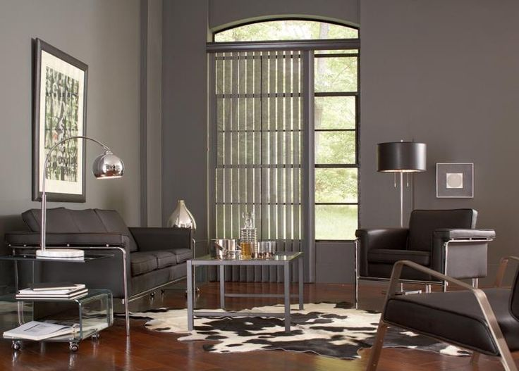 Vertical blinds are custom fit to accommodate any window size.
