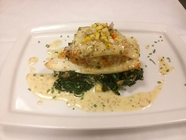 Stuffed Lemon Sole! Baked crab and shrimp filled Maine sole, mustard ...