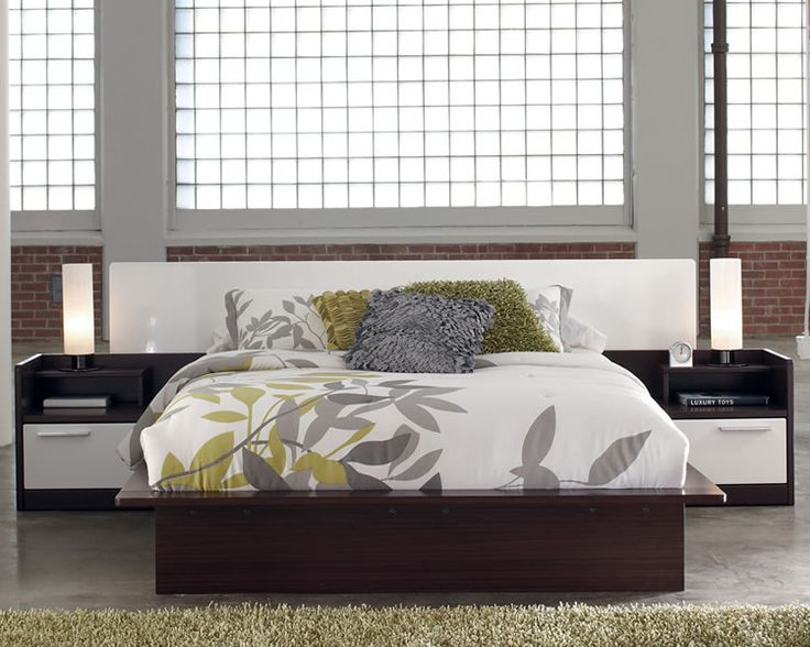 Modern Platform Bed with Hydraulic Lift Storage