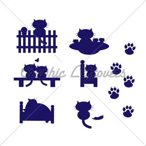 Cat Silhouettes @Sandra Pendle Vanderbeck Heyrich Altamirano