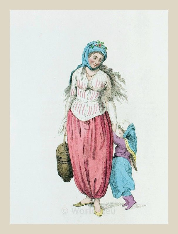 A GREEK WOMAN OF THE ISLAND OF MARMORA Gallery: THE COSTUME OF TURKEY. Ottoman Empire Costumes. Drawings by Octavian Dalvimart. Printed by Howlett and Brimmer. Published in London, 1804.