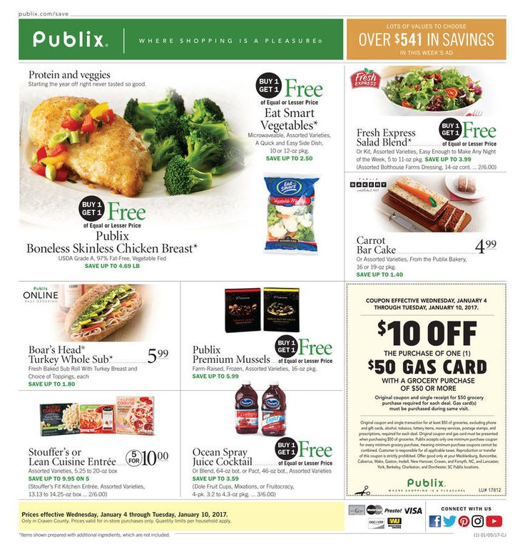 Publix Weekly Ad January 4 - 10, 2017