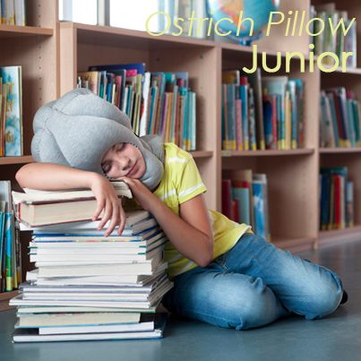 The fun, functional, nap-anywhere helmet pillow has now been reengineered for kids: the Ostrich Pillow Junior.