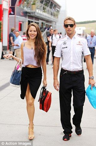 Jenson Button and girlfriend, Japanese-Argentine model Jessica Michibata, arrive at Hungaroring 4